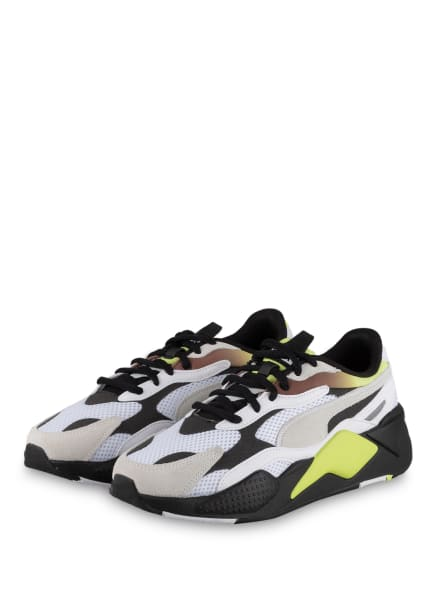 PUMA Sneaker RS-X NEO FADE, Farbe: WEISS/ SCHWARZ/ NEONGELB (Bild 1)