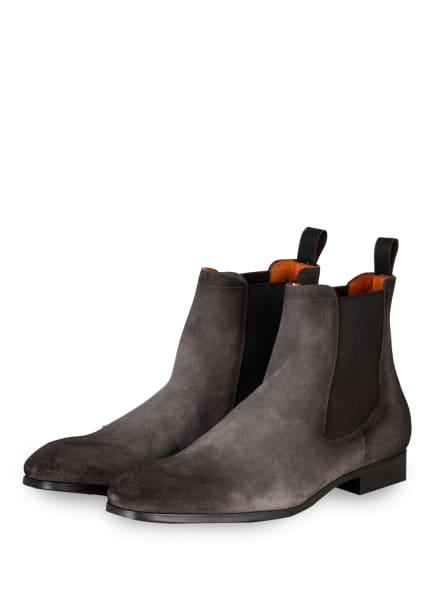 Santoni Chelsea-Boots, Farbe: GRAU/ SCHWARZ (Bild 1)