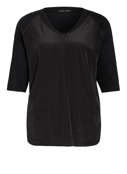 MARC CAIN Oversized-Blusenshirt im Materialmix, Farbe: 900 BLACK (Bild 1)