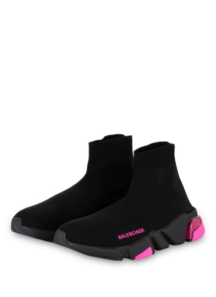BALENCIAGA Hightop-Sneaker SPEED, Farbe: SCHWARZ/ PINK (Bild 1)