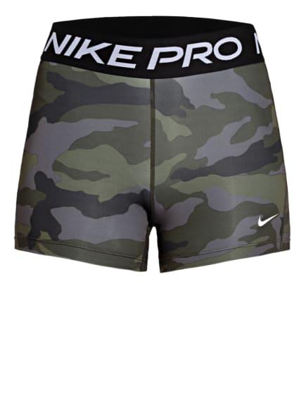 Nike Fitnessshorts PRO, Farbe: TAUPE/ OLIV/ DUNKELGRÜN (Bild 1)