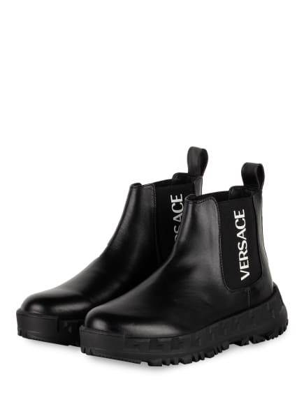 VERSACE Chelsea-Boots, Farbe: SCHWARZ/ WEISS (Bild 1)