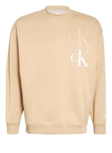 Calvin Klein Jeans Sweatshirt, Farbe: BEIGE (Bild 1)