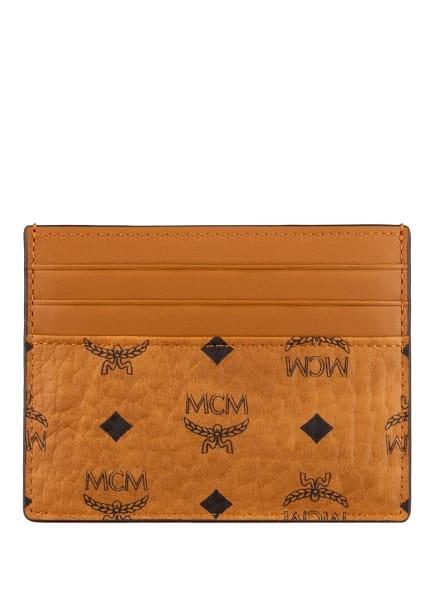 MCM Kartenetui VISETOS ORIGINAL mit Geldklammer, Farbe: COGNAC (Bild 1)
