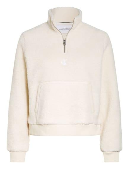 Calvin Klein Jeans Teddyfell-Pullover, Farbe: ECRU (Bild 1)