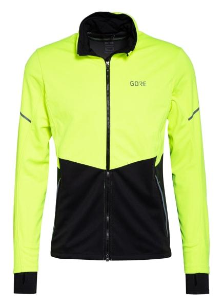 GORE RUNNING WEAR Laufjacke R5 GORE-TEX INFINIUM™, Farbe: NEONGELB/ SCHWARZ (Bild 1)
