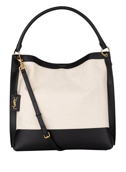 SAINT LAURENT Hobo-Bag mit Pouch, Farbe: SCHWARZ/ BEIGE (Bild 1)