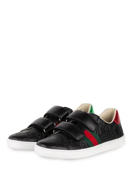 GUCCI Sneaker, Farbe: 1068 NERO/NERO/VRV/ROS (Bild 1)