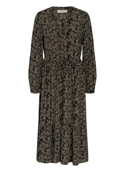 MOSS COPENHAGEN Kleid CALIE, Farbe: DUNKELGRÜN/ HELLGRÜN (Bild 1)