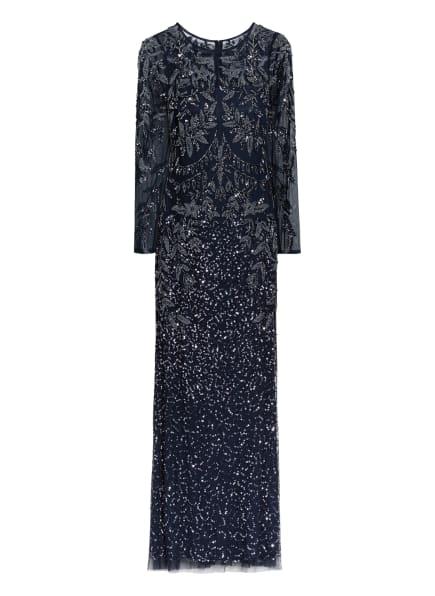 ADRIANNA PAPELL Abendkleid mit Paillettenbesatz, Farbe: DUNKELBLAU (Bild 1)