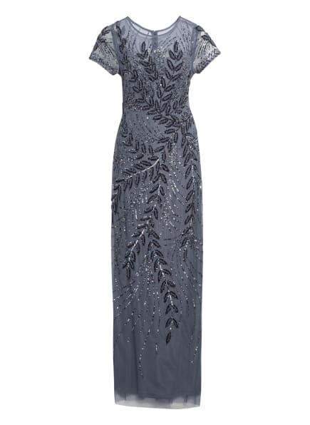 ADRIANNA PAPELL Abendkleid mit Paillettenbesatz, Farbe: BLAUGRAU (Bild 1)