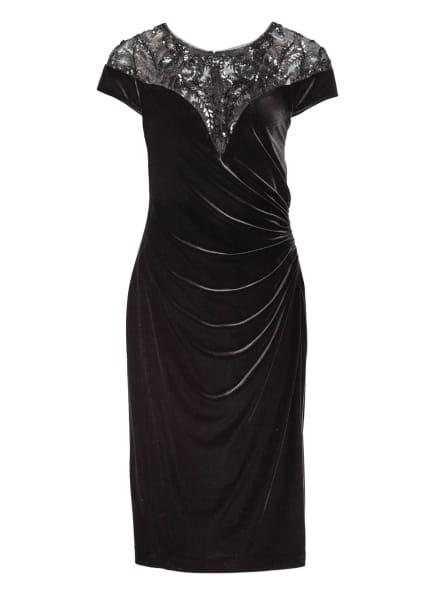 ADRIANNA PAPELL Cocktailkleid aus Samt, Farbe: SCHWARZ (Bild 1)