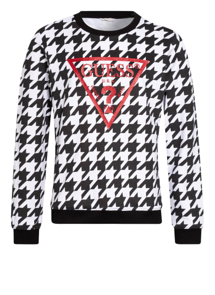GUESS Sweatshirt , Farbe: SCHWARZ/ WEISS/ ROT (Bild 1)