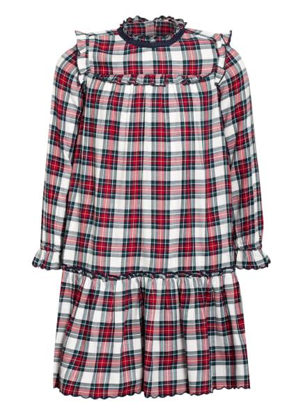 TOMMY HILFIGER Kleid mit Volantbesatz, Farbe: WEISS/ ROT/ GRÜN (Bild 1)