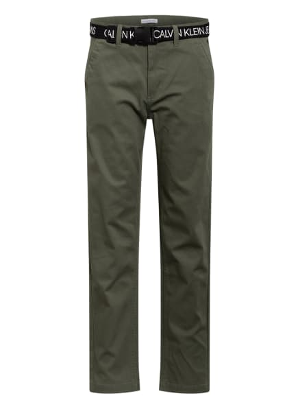 Calvin Klein Chino Straight Fit, Farbe: OLIV (Bild 1)