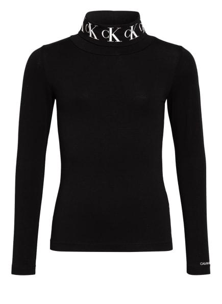 Calvin Klein Rollkragenshirt, Farbe: SCHWARZ (Bild 1)