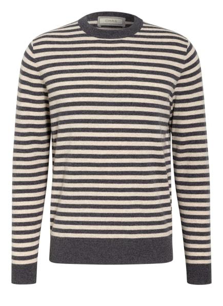 CHAS Pullover mit Cashmere, Farbe: DUNKELGRAU/ CAMEL (Bild 1)