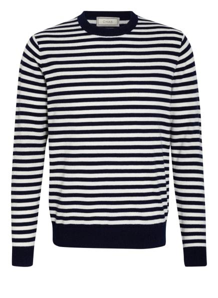 CHAS Pullover mit Cashmere, Farbe: DUNKELBLAU/ WEISS (Bild 1)