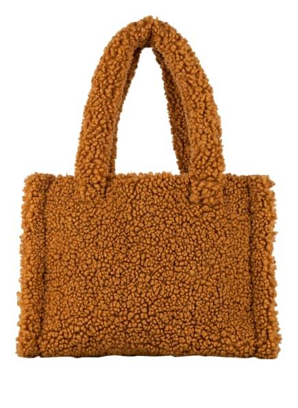 STAND STUDIO Handtasche LIZ aus Teddyfell, Farbe: COGNAC (Bild 1)