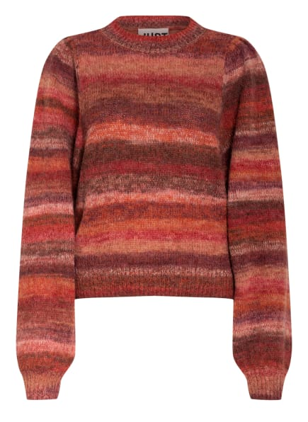 JUST FEMALE Pullover DREAS, Farbe: DUNKELROT/ ALTROSA (Bild 1)