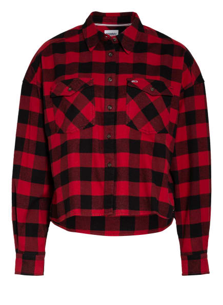 TOMMY JEANS Overshirt, Farbe: ROT/ SCHWARZ (Bild 1)