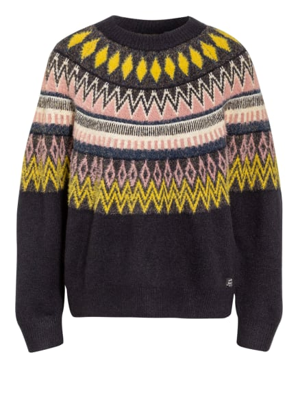 Superdry Pullover MAGGIE, Farbe: DUNKELBLAU/ HELLROSA/ GELB (Bild 1)