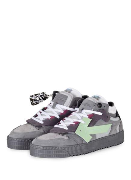 Off-White Sneaker OFF COURT, Farbe: HELLGRAU/ MINT (Bild 1)