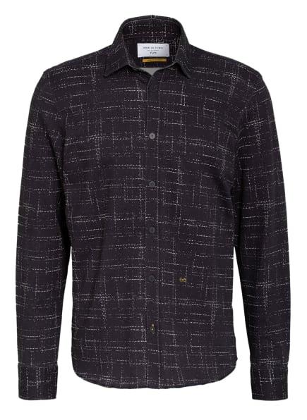 NEW IN TOWN Jerseyhemd Comfort Fit, Farbe: DUNKELBLAU/ WEISS (Bild 1)