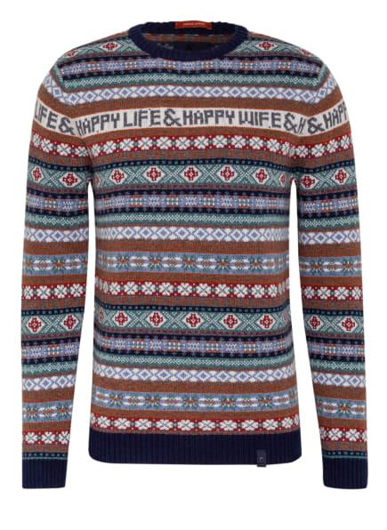 COLOURS & SONS Pullover JAKE, Farbe: WEISS/ DUNKELBLAU/ MINT (Bild 1)