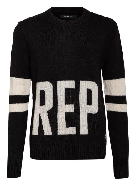 REPLAY Pullover , Farbe: SCHWARZ/ WEISS (Bild 1)