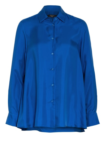 WEEKEND MaxMara Hemdbluse aus Seide, Farbe: BLAU (Bild 1)