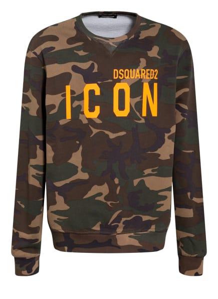 DSQUARED2 Sweatshirt ICON, Farbe: BEIGE/ DUNKELGRÜN/ KHAKI (Bild 1)