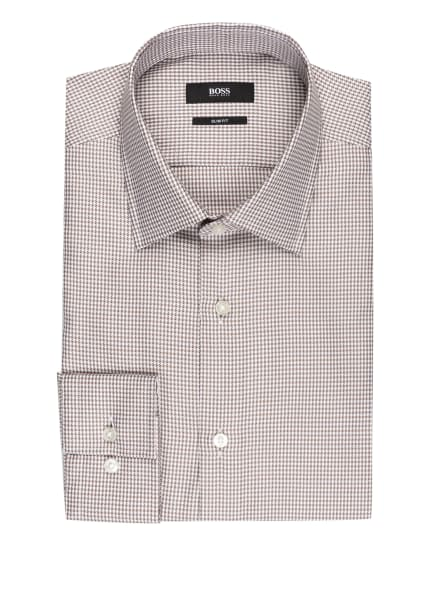 BOSS Hemd JANGO Slim Fit, Farbe: WEISS/ BEIGE/ OLIV (Bild 1)