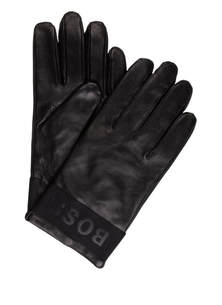BOSS Lederhandschuhe HIPEL, Farbe: SCHWARZ (Bild 1)