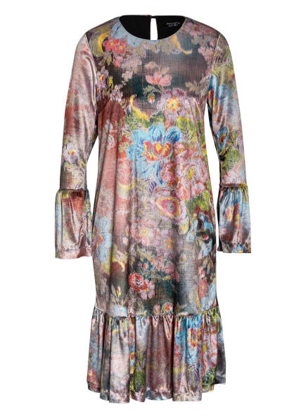 ANNA's Kleid mit 3/4-Arm, Farbe: DUNKELGRÜN/ COGNAC/ HELLBLAU (Bild 1)