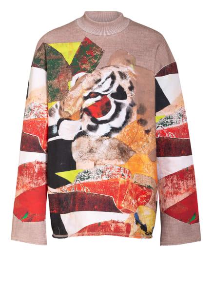 KENZO Oversized-Shirt, Farbe: HELLBRAUN/ SCHWARZ/ ROT (Bild 1)