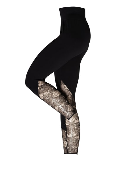 Wolford Feinstrumpf-Leggings PERFECT FIT LACE, Farbe: 9180 BLACK/BLACK (Bild 1)