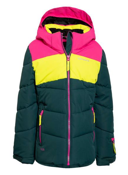 ICEPEAK Skijacke LAGES, Farbe: DUNKELGRÜN/ NEONGELB/ PINK (Bild 1)