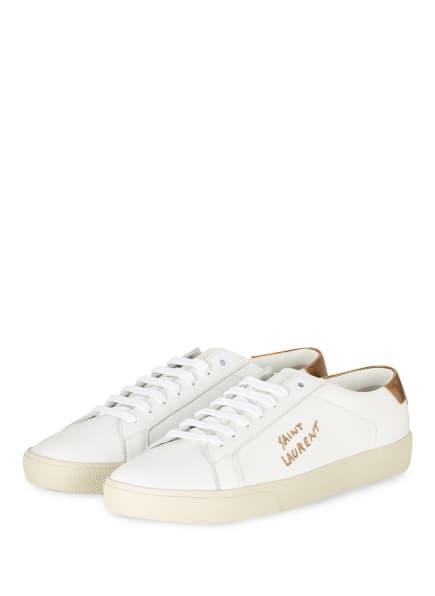 SAINT LAURENT Sneaker, Farbe: WEISS/ GOLD (Bild 1)