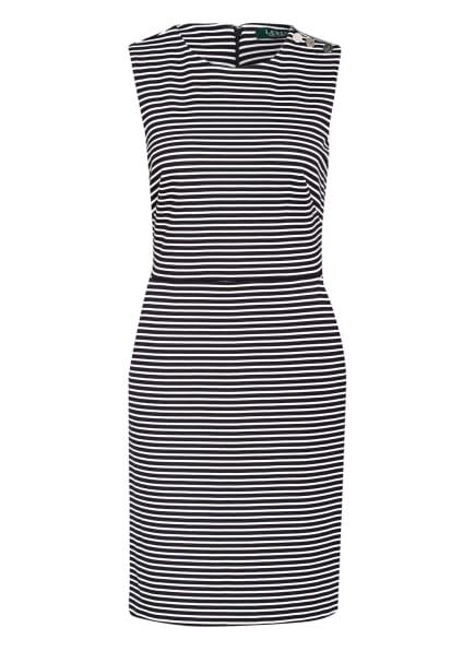 LAUREN RALPH LAUREN Jerseykleid, Farbe: DUNKELBLAU/ WEISS (Bild 1)