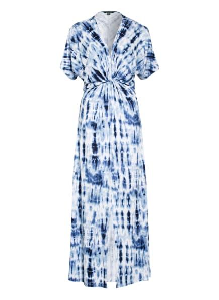 LAUREN RALPH LAUREN Jerseykleid mit Leinen, Farbe: WEISS/ DUNKELBLAU/ HELLBLAU (Bild 1)