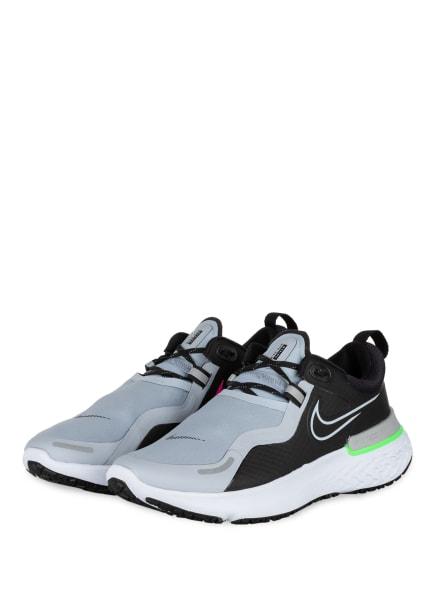 Nike Laufschuhe REACT MILER SHIELD, Farbe: SCHWARZ/ BLAUGRAU/ NEONGRÜN (Bild 1)