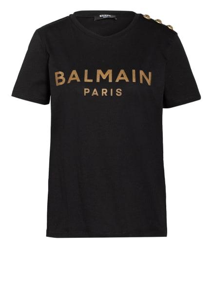 BALMAIN T-Shirt mit Schmucksteinbesatz, Farbe: SCHWARZ (Bild 1)