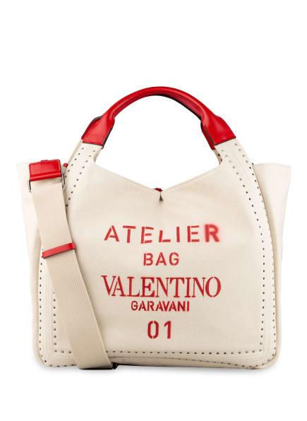 VALENTINO GARAVANI Shopper ATELIER BAG mit Pouch, Farbe: CREME/ ROT (Bild 1)