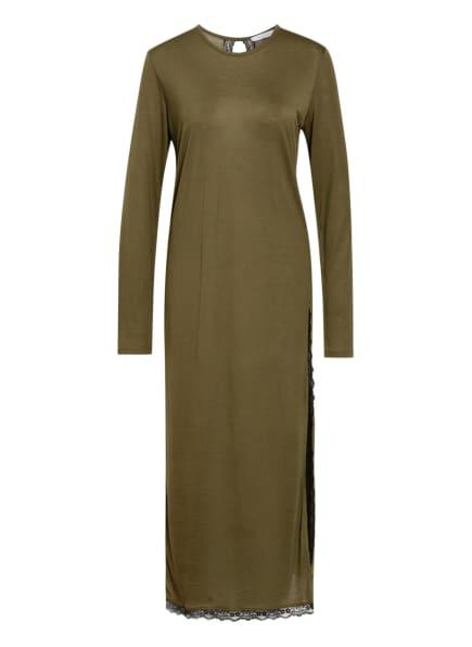 NINETY PERCENT Jerseykleid mit Spitzenbesatz, Farbe: GRÜN (Bild 1)