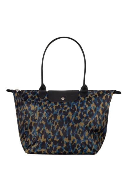LONGCHAMP Shopper LE PLIAGE M , Farbe: DUNKELBRAUN/ BLAU/ CAMEL (Bild 1)