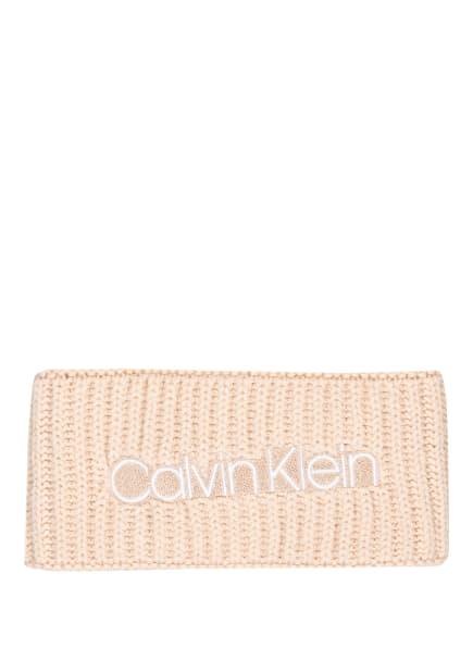 Calvin Klein Stirnband mit Glitzergarn, Farbe: CREME (Bild 1)