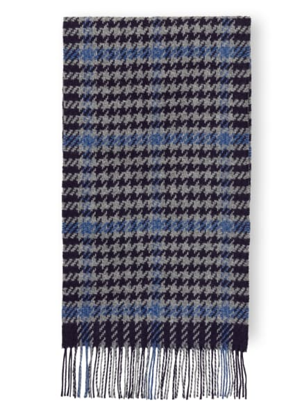 HACKETT LONDON Schal HOUNDSTOOTH WINDOW, Farbe: GRAU/ DUNKELBLAU/ BLAU (Bild 1)