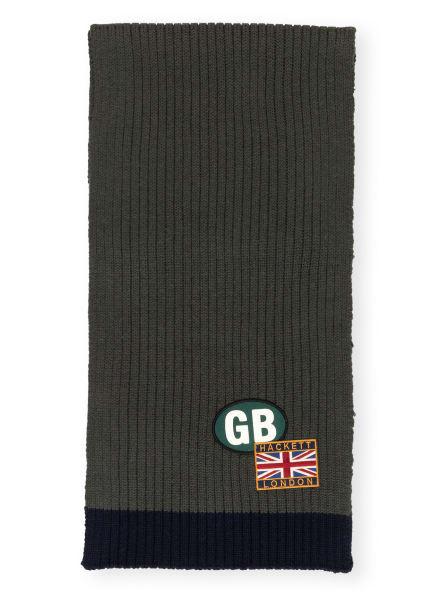 HACKETT LONDON Schal, Farbe: GRÜN/ DUNKELBLAU (Bild 1)