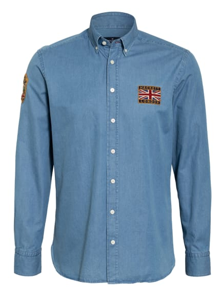HACKETT LONDON Jeanshemd Slim Fit, Farbe: HELLBLAU (Bild 1)